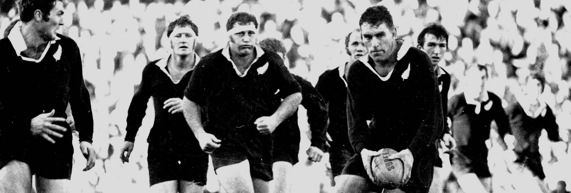 Colin Meads playing for the All Blacks